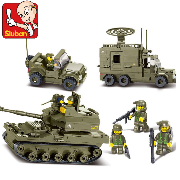Sluban Military Army Elite armored division Building Blocks set Bricks Construction Enlighten Toys For Children Gift<br><br>Aliexpress