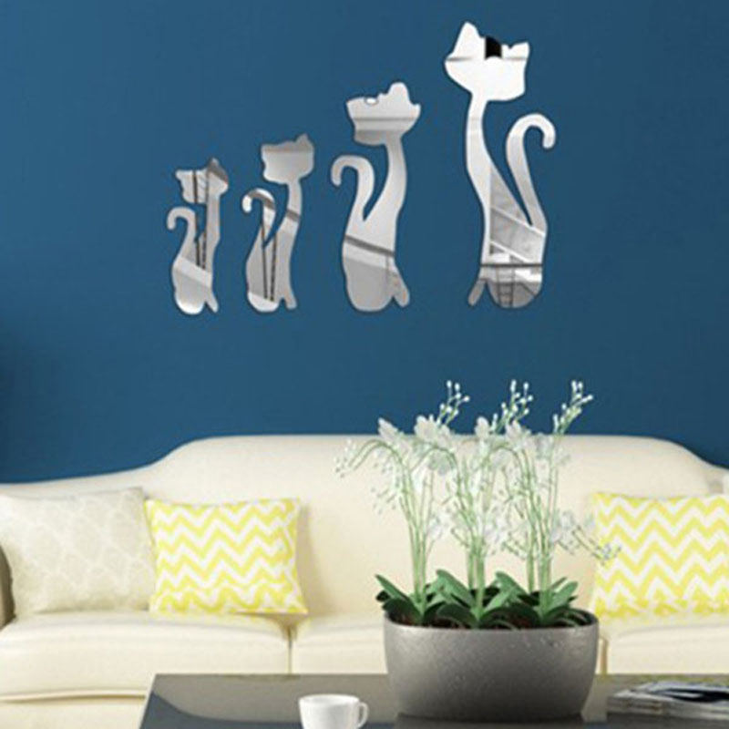 Buy diy 4 pieces pack cute cats pattern for Cat decorations home