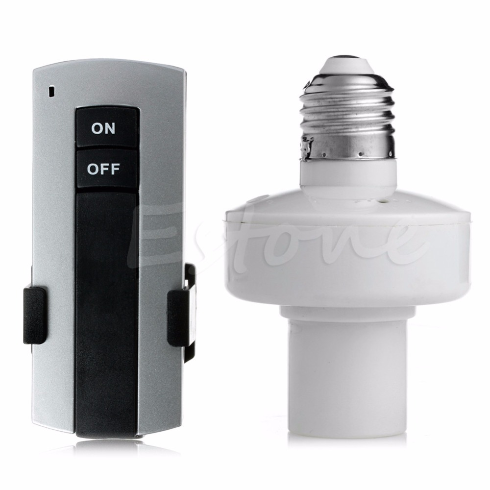 F85 New E27 Screw Wireless Remote Control Light Lamp Bulb Holder Cap Socket Switch(China (Mainland))