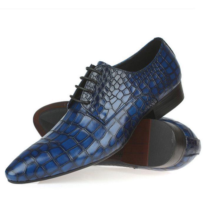 Blue Alligator Shoes