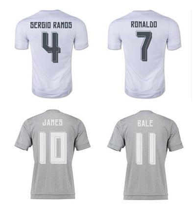 15 16 soccer jerseys Top thai shirts football shirts Cristiano Ronaldo Bale Sergio Ramos KROOS JAMES foot maillot(China (Mainland))