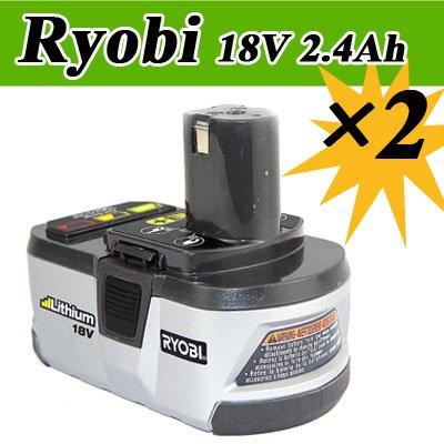 2 Pack RYOBI 18V 2.4Ah Lithium-Ion Tool Battery model P104 ONE+ free shipping(China (Mainland))