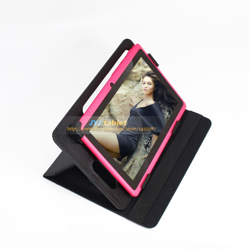 New Arrival Pink 7 inch Allwinner Android 4.2 8GB Tablet PC Dual Core Cameras WiFi 1.5GHz with Rotating Case(China (Mainland))