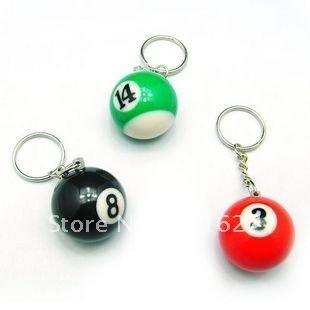 Free Shipping billiards key ring /bird keychain/great gift/cufflinks wholesale Ll-01-119