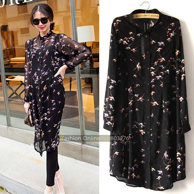 Большой размер 5XL Шифон блузка женщины с длинным рукавом блузка рубашка плюс размер ...