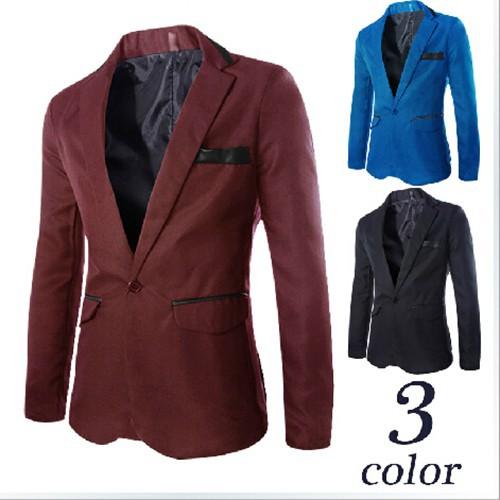 новые моды случайных мужской костюм куртки slim fit одну кнопку Мужские пиджаки, Бизнес свадебный пиджак мужчины для m-3xl