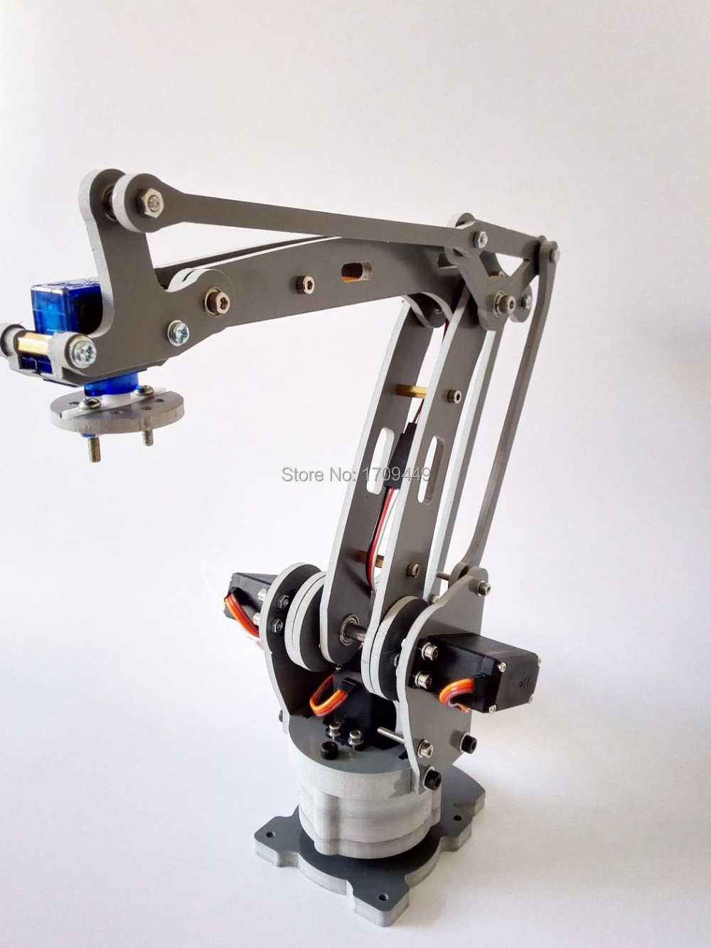 Robotic Palletizing Arms : Free shipping new version robot arm axis stacker servos