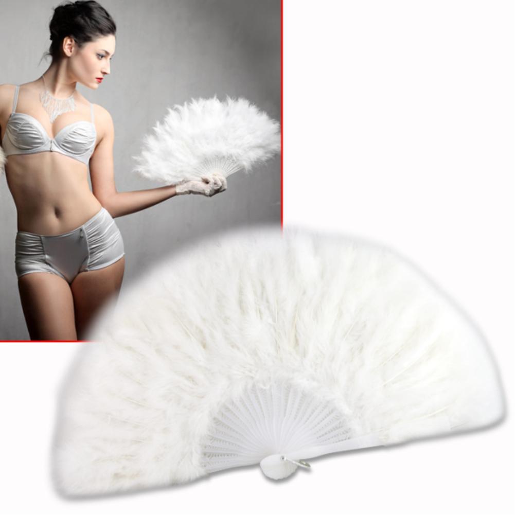White feather wedding party ball lady folding hand fan Fancy Elegant Props Phantom wedding decoration EN0771(China (Mainland))
