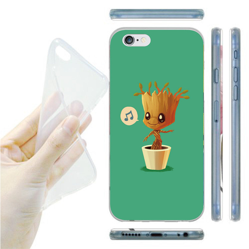 Marvel Comics Superhero Groot Pattern Phone Protection Accessories Soft Case For iphone 6(China (Mainland))