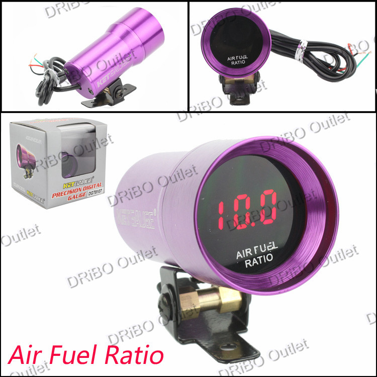 Air Fuel Gauge 37mm - Compact Micro Digital Smoked Lens Air Fuel Ratio Gauge auto Gauge / car meter(China (Mainland))