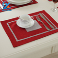 2pcs lot 30x40cm Flocking Dining Table Mat Diamond Placemat Table Mat Dishes Bowl Pad Drink Coasters