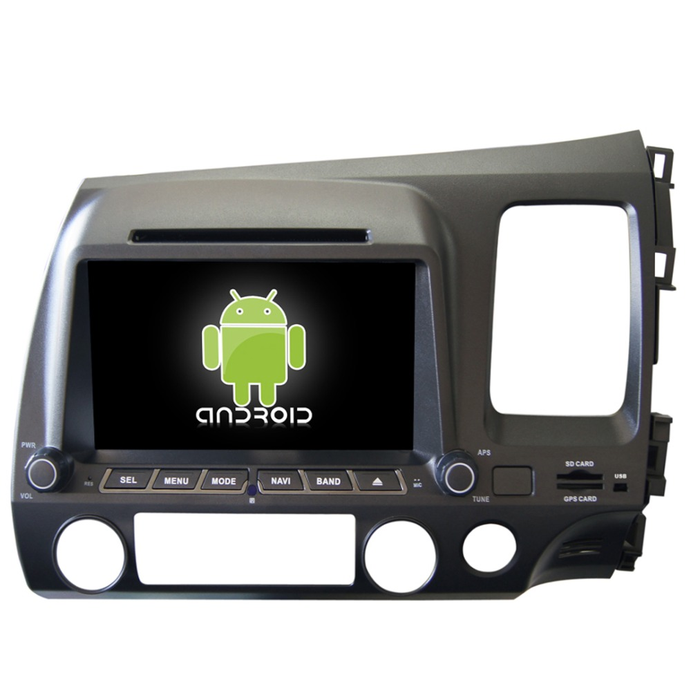 Pure Android 4.4 Automobile Vehicle GPS Navigation For Civic Right Hand DVD Radio Audio Video Player Ipod Bluetooth Wifi FreeMap(China (Mainland))
