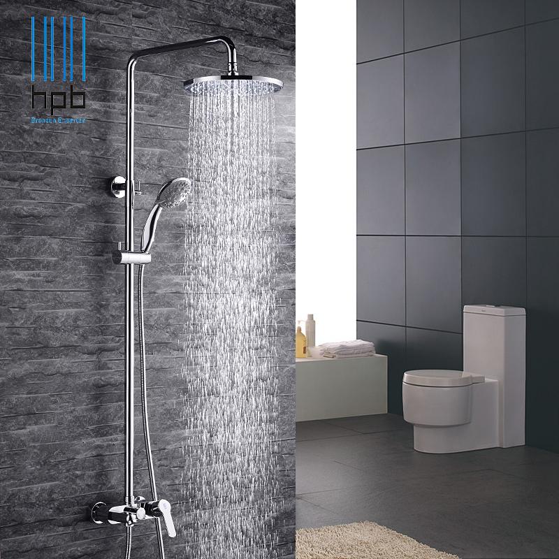 HPB Brass German Air Injection Technology Bath Mixer Rain Bathroom Shower Panel Set torneira HP1001(China (Mainland))
