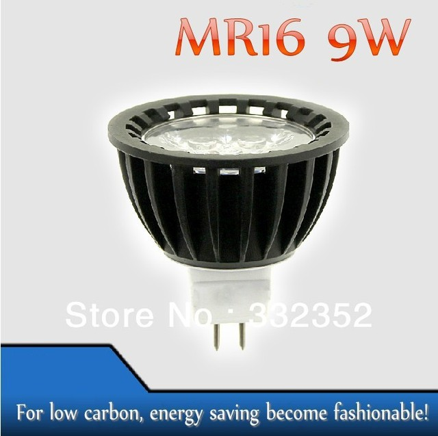 High power 2pcs/lot MR16  3leds Dimmable 3X3W 9W High Power LED Lights LED Bulb Lamp Led Spotlight