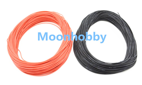 1 METER Red+ 1 METER Black 10AWG 12AWG 14AWG 16AWG 18AWG Heatproof Soft Silicone Wire Cable For RC Heli Drone Free Track Ship(China (Mainland))