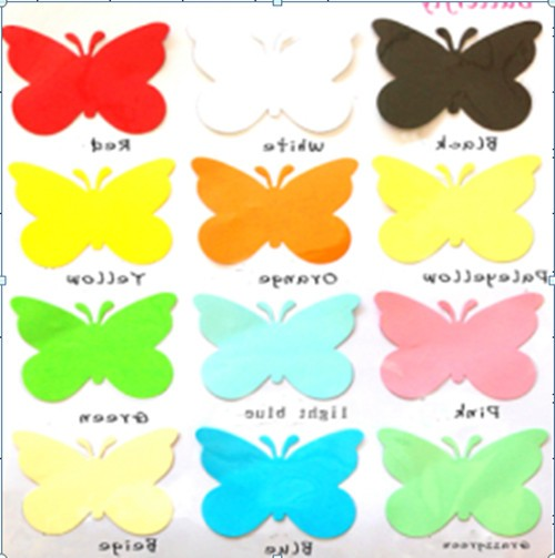 Luxbon 2016 new arrivals 20pcs 12 colors butterflies 3d for Decoration maison aliexpress
