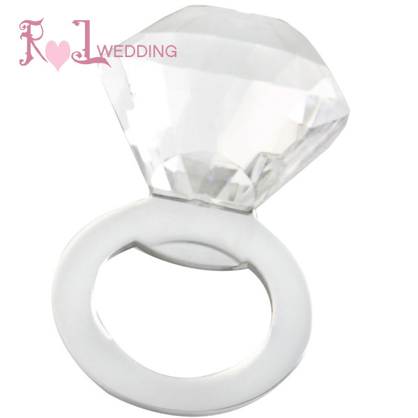 50Pcs Free Shipping Ring Crystal Bottle Opener Favor Unique Event &Party Supplies With Gift Box Elegant Bachelorette Party Favor(China (Mainland))