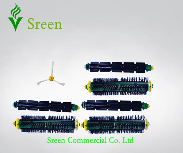Robotic Vacuum Cleaning Parts 3 Set Brush Kit + Side Brush for iRobot 500 Series 510 520 530 540 550 560 570 610(China (Mainland))