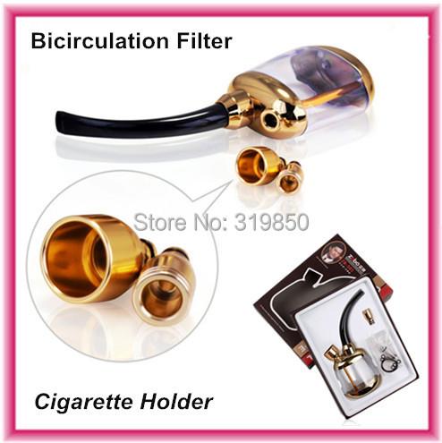 Zobo water smoking pipe hookah bicirculation Filter cigarette holder free shipping