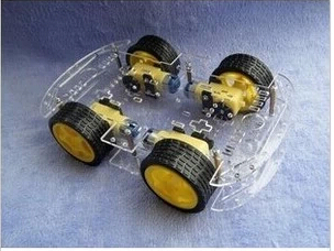 Smart car chassis / 4WD / 4 wheel drive force the chronological / magnetic motor / With code disc/ tachometer ZK-4WD(China (Mainland))