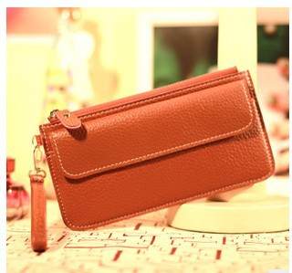 Hot Sale Simple PU Women Wallet Ladies Long Purse Card Bag Zipper & Hasp Women's Clutches Free Shipping(China (Mainland))