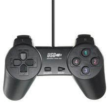 Hot Sale Wired USB 2.0 Game Controller Gamepad Joystick Joypad for PC Laptop Computer for XP/for Vista Black