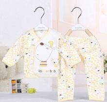 (2Pcs/set) 100% cotton 0-3M sping autum winter pajamas baby sets fashion sleepwear new born baby clothes CW-15(China (Mainland))
