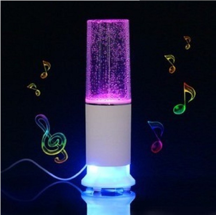 2015 hot selling Water music speaker Colorful fountain sound Surround spout creative sound bluetooth speaker free shipping(China (Mainland))