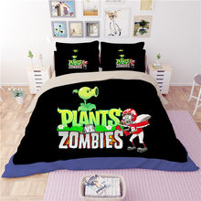 3D bedding set Plants vs Zombies skeleton printing Home textile cartoon twin full queen king size blanket cover duvet pillowcase(China)