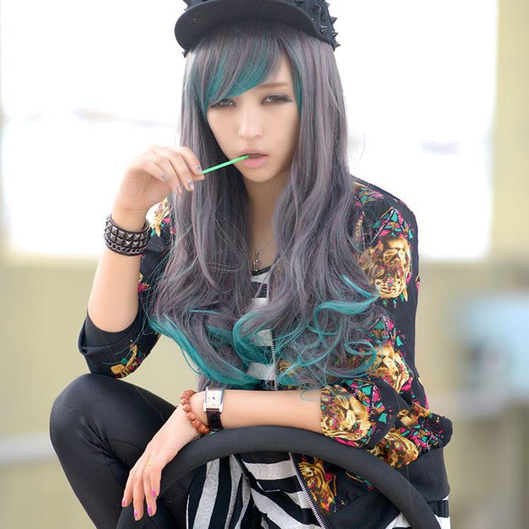 70cm Harajuku Anime Cosplay Ombre Wigs Drag Queen Cheap