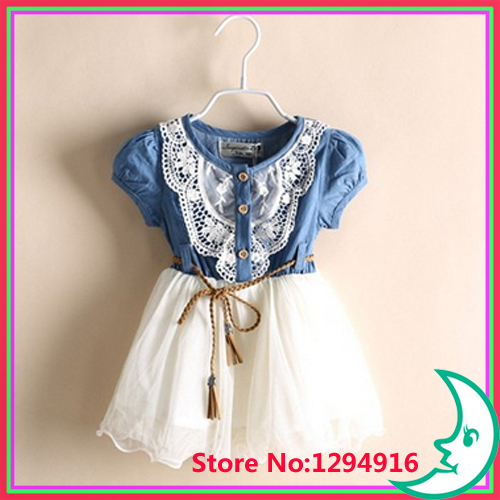 2014 Girl Clothing Summer Denim Dress Girls Brand Kids Jeans Tutu Cute Beautiful Children Dresses - Fashion Zoon No.1 store