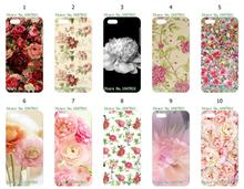 Mobile Phone Cases Wholesale 10pcs/lot Peony Design Protective White Hard Case For Iphone 5C Free Shipping