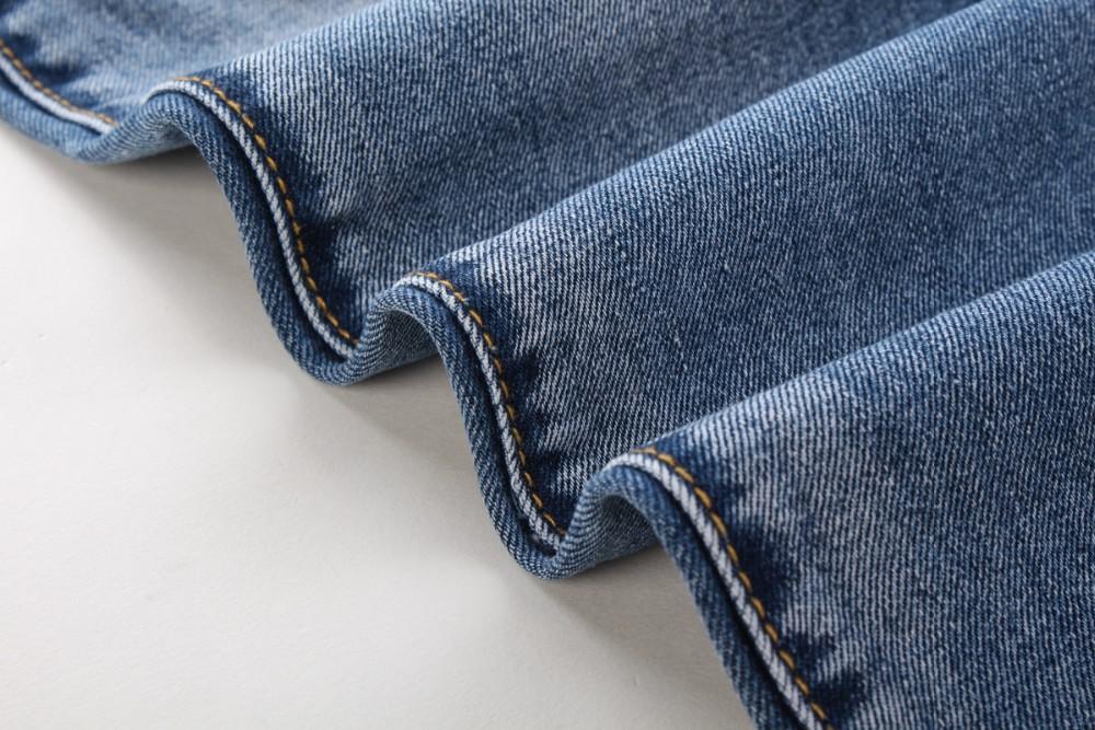 Bal Main Brand Paris Runway Stretch Jeans, Washed Acid Light Blue Biker Balm*in Jeans Men Plus Size 28-38