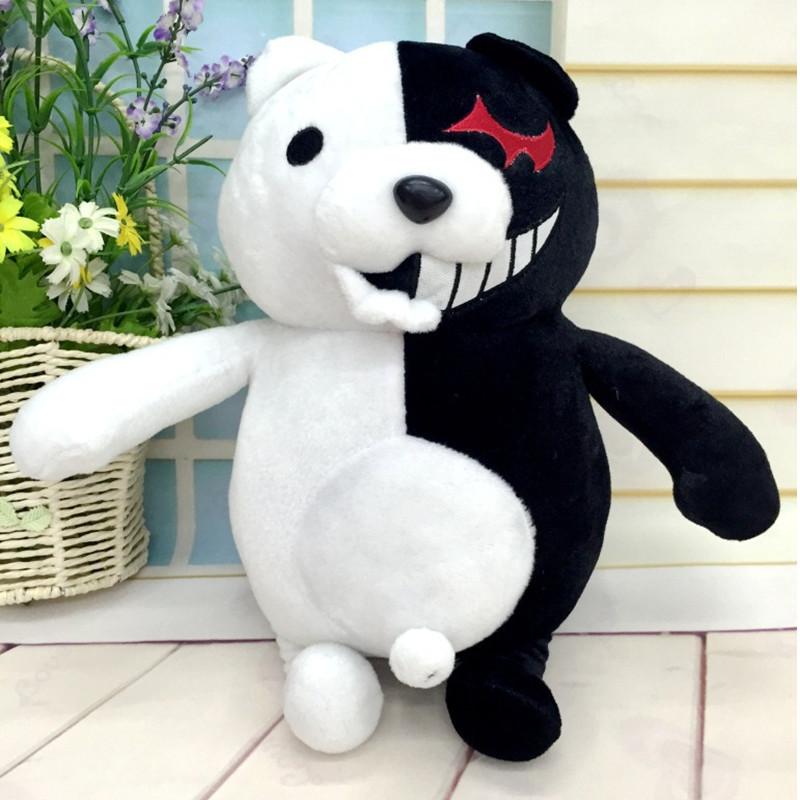 Kawaii Cartoon Monokuma Bear Soft Plush Toy Black/Pink Anime Stuffed Danganronpa Doll Peluche Figure Toys For Children(China (Mainland))
