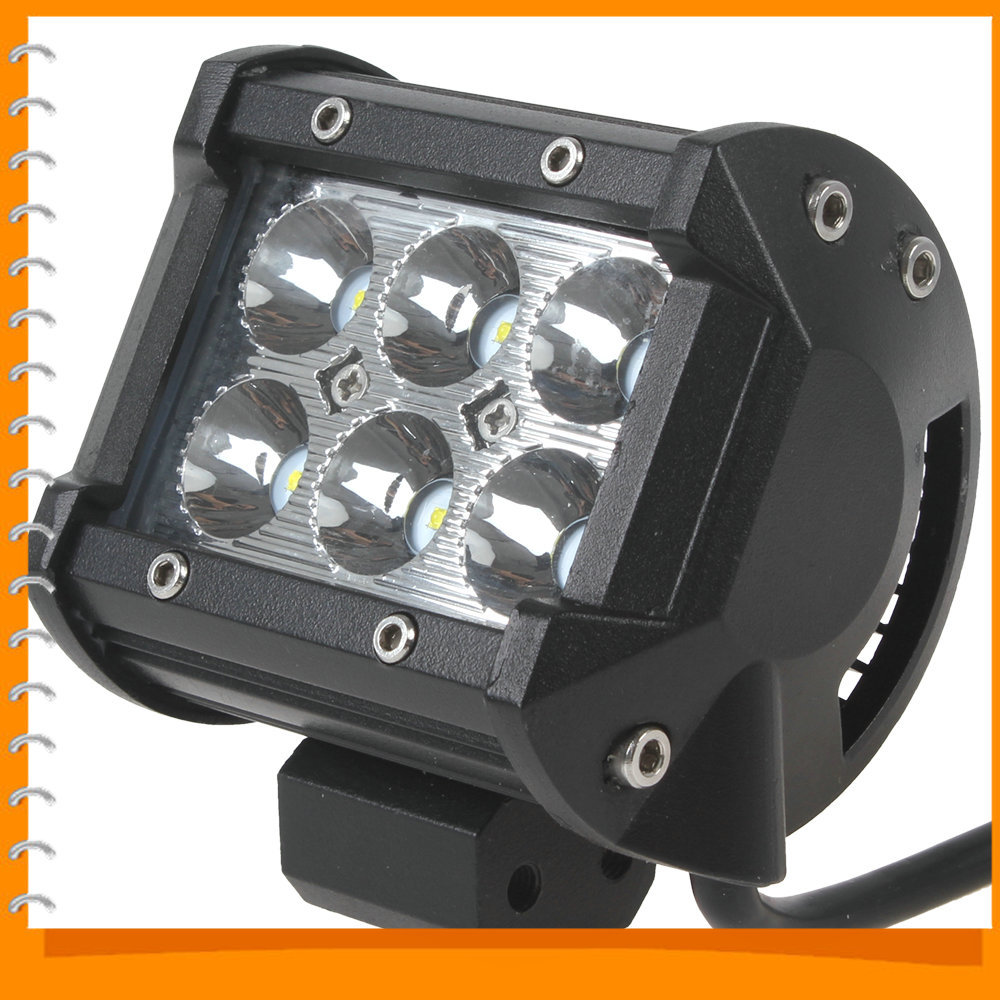1400LM 18W 12V Cree LED Work Light Offroad Car LED Work Lamp Worklight for Motorcycle Tractor Boat 4WD Off road Truck SUV ATV(China (Mainland))