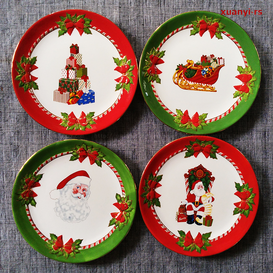 Christmas holiday decoration plate dessert party special