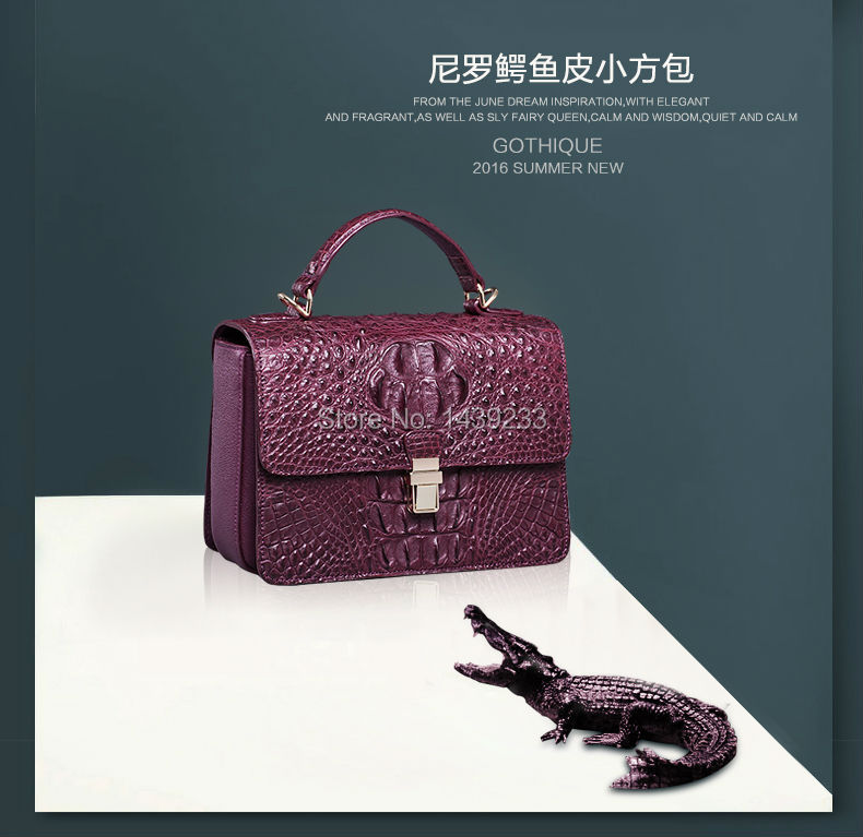 100% genuine crocodile skin  leather  women handbag/Cross Body/ Shoulder Bag, Crocodile Skin Small Size Women HandBag