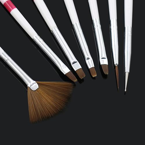7 Pcs de desenho pontilhado pintura escovas DIY acrílico dicas Liner Nail Art canetas Set