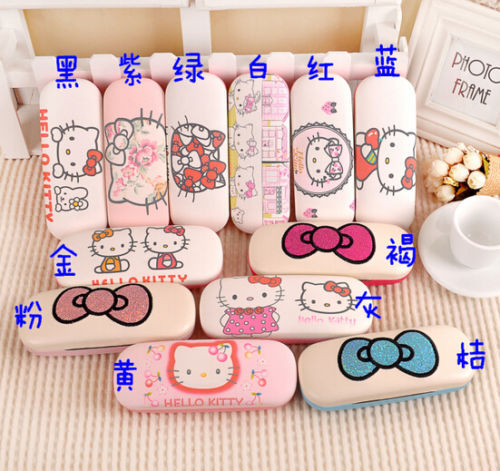 Hot Japan Cute Cat Eyeglass Case Cartoon Design Girls Birthday Gift Box Kid Birthday Gift -in