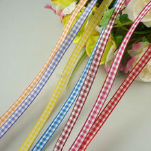 """2rolls/lot 1/4""""(6mm) Wired Tartan Plaid Ribbon Polyester Scottish Ribbons 20meters/roll DIY Bows Appliques Crafts Gift Wrapping"""
