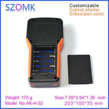 10 pcs, 2016 new instrument handheld enclosure with 5xAA battery holder 203*100*35mm LCD enclosure case, plastic electronics box(China (Mainland))