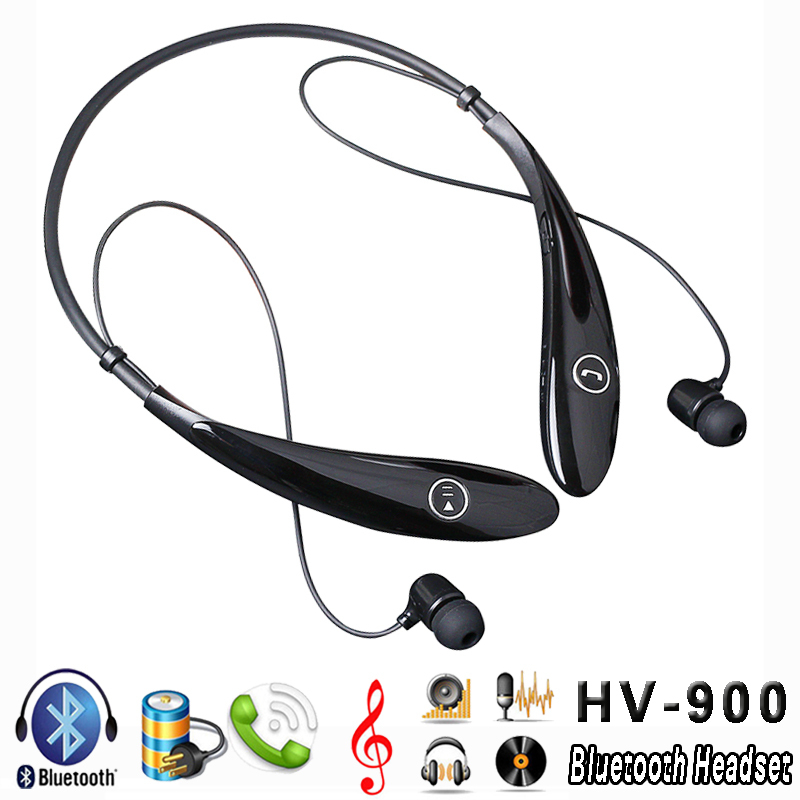 HV-900 Wireless Sports Stereo Bluetooth Headset Neckband in-Ear Earbuds Earphone Headphone iPhone Samsung HTC LG Smartphone  -  LEMFO 3C Brand Mall store