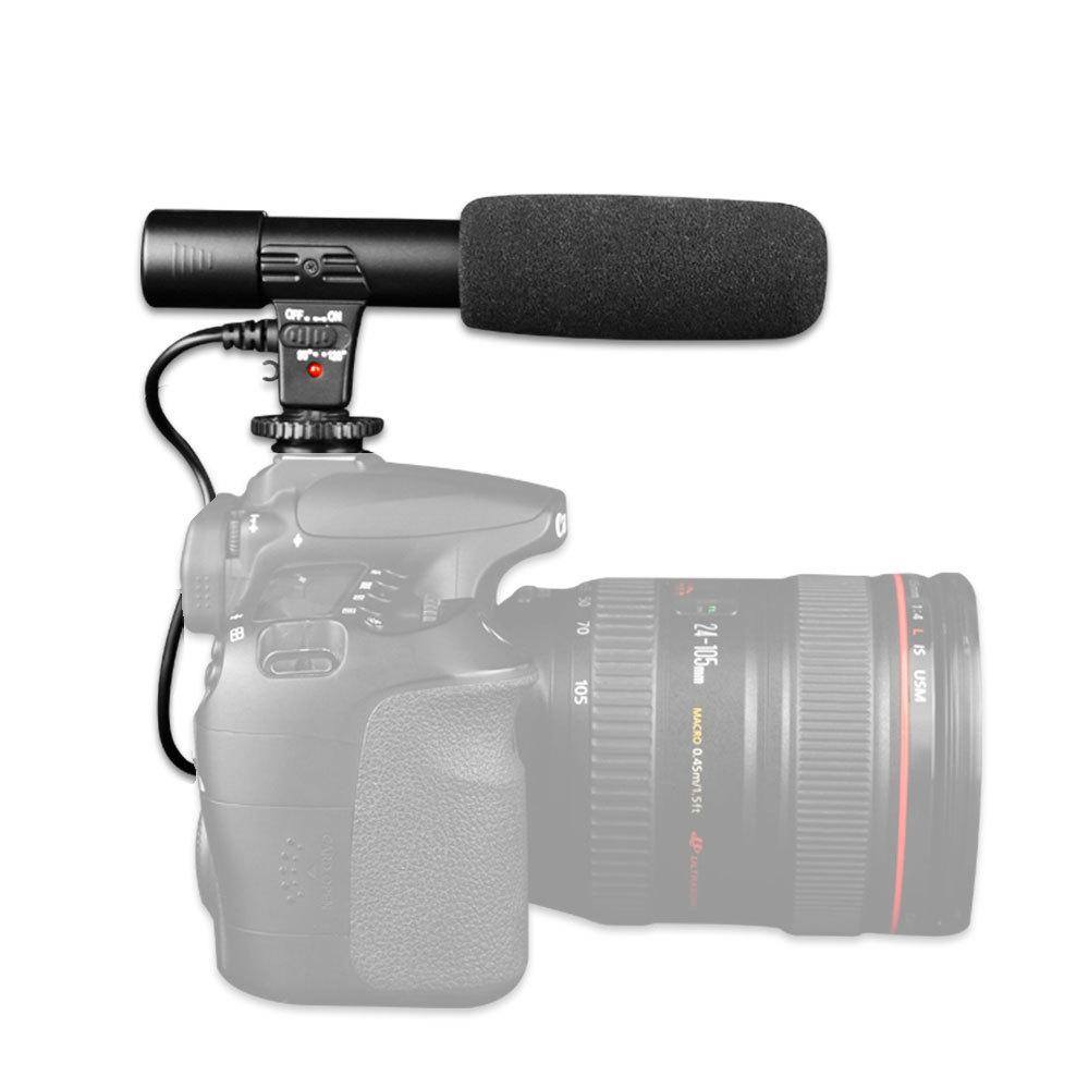 Teyeleec Professional Studio/Stereo Shotgun Recording 3.5mm Microphone/Microfone for CANON NIKON PENTAX Digital Video SLR Camera(China (Mainland))