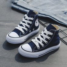 ילדי נעלי ילדה תינוק סניקרס 2019 אביב אופנה גבוהה הבוהן בד פעוט ילד נעלי ילדי קלאסי בנות בד נעליים(China)