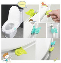 2015 Toilet Seat Handle Convenient Toilet Clamshell Tool Seat Cover / Potty Ring Handles Home Essential (mix Order 10 Usd) K6884 (China (Mainland))