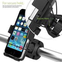 Universal One-Touch Bike Phone Mount Holder 360 degree rotations Bicycle Motorcycle Stand for Smartphone iPhone Samsung HTC