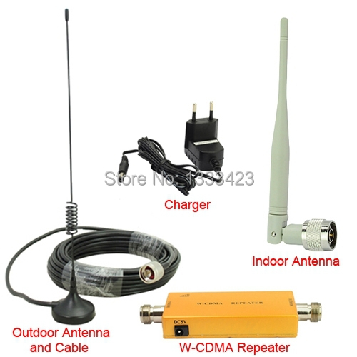 Mini 2100Mhz 3G Repeater Mobile Phone 3G Signal Booster WCDMA Signal Repeater Amplifier + Cable + 3g Antenna, Free drop shipping(China (Mainland))