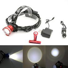 Waterproof 2000LM 4 Switch Modes CREE XM-L T6 Focus LED Headlamp Headlight Head Torch Lamp Flashlight+2*18650 +AC/Car Charger - wany-light store
