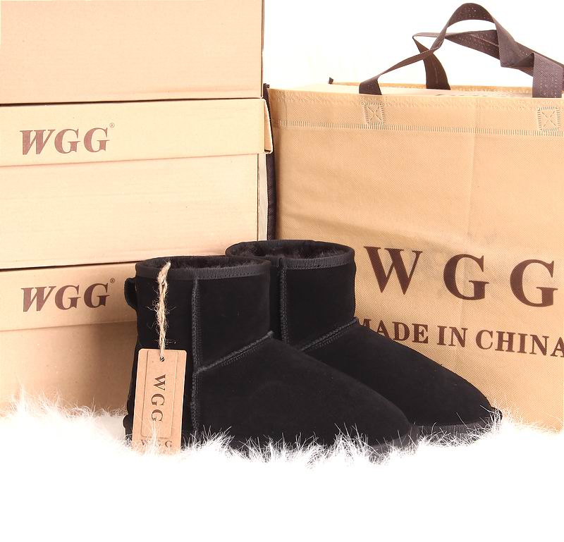 free shipping Wgg snow boots low boots women's shoes winter boots black cow muscle outsole drop shipping
