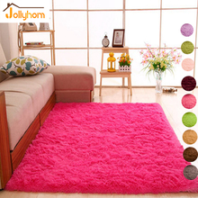 4.5cm Long Hair Solid Carpet Shaggy Area Rugs Anti-Slip Carpets for Living Room Bedroom Hotel Rectangle Carpet-Accept Custom(China (Mainland))